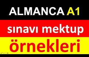 ALMANCA A1 sınavı mektup örneği