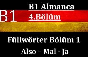 B1 Almanca   4.Bölüm   Füllwörter Bölüm 1