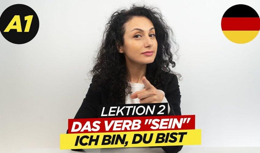 """Das Verb """"Sein"""" – ich bin, du bist / A1 Deutschkurs"""