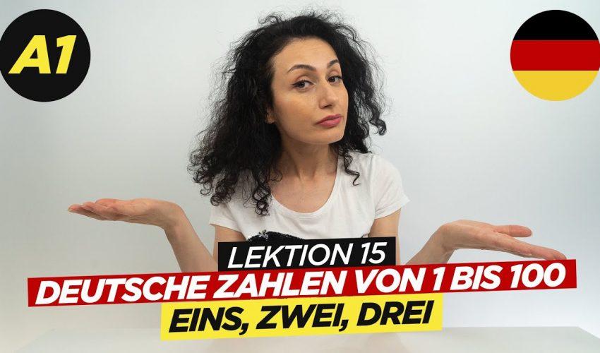 Deutsche Zahlen von 1 bis 100 / A1 Deutschkurs /