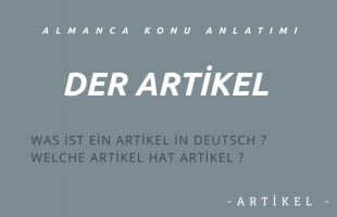 Almanca Artikeller